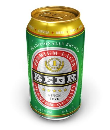 botellas de cerveza: La cerveza puede aisladas sobre fondo blanco