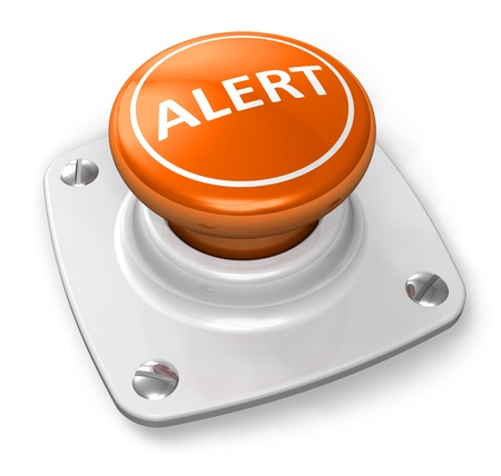 cautioning: Orange alert button