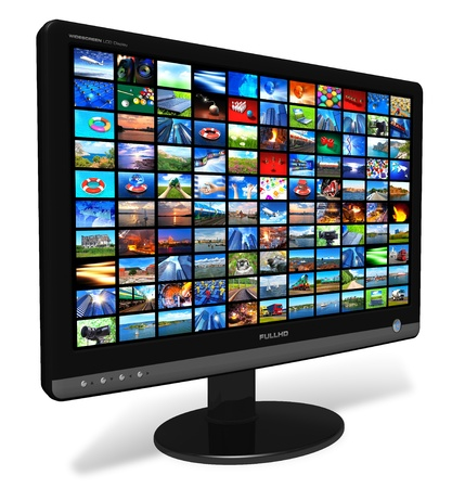 lcd tv: LCD display with picture gallery