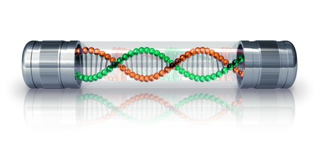 hermetic: DNA molecule in hermetic capsule Stock Photo
