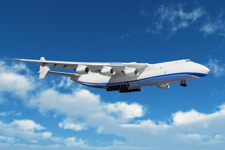 midair: Big freight airiner in the midair Stock Photo