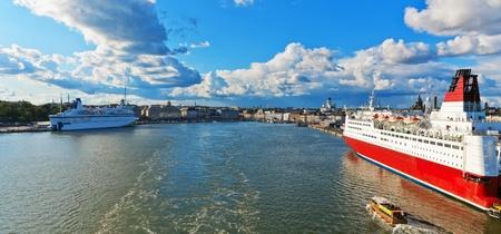 helsinki: Scenic summer panorama of Helsinki, Finland