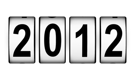 New Year 2012 counter isolated on white background photo