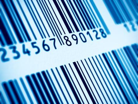 barcode: Macro mening van blauwe barcodes
