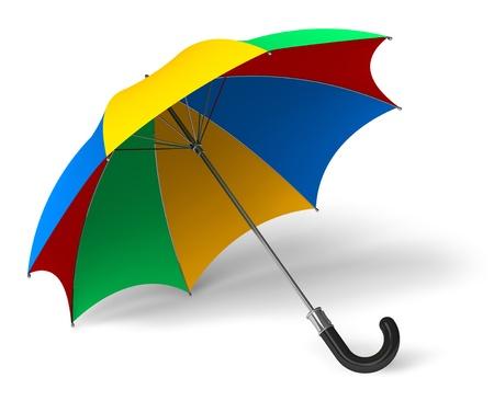 yellow umbrella: Color umbrella isolated on white background