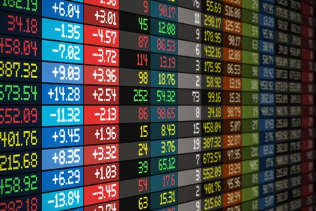 Stock exchange market business concept