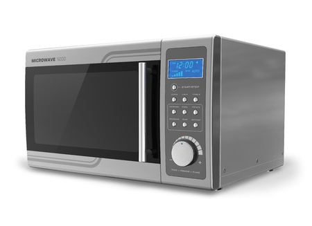 Microwave oven isolated on white background  Reklamní fotografie