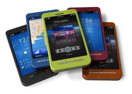 hablando por telefono: Ajuste de los tel�fonos inteligentes con pantalla t�ctil