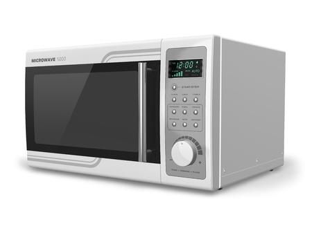 microwave oven: Horno de microondas, aislado en el dise�o de fondo blanco NOTA es m�a y todas las etiquetas de texto y los n�meros son totalmente abstracta