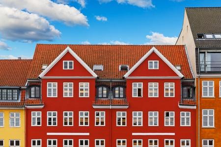 scandinavian landscape: Old classic architecture of Nyhavn in Copenhagen, Denmark Stock Photo