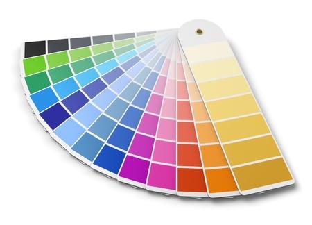 Paleta de colores Pantone guía aislado sobre fondo blanco Foto de archivo