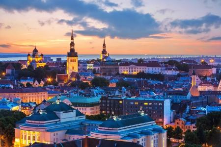 tallinn: Wonderful evening scenic summer panorama of Tallinn, Estonia