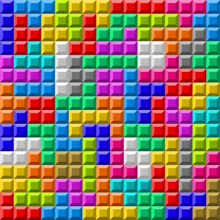 illustration of colorful Tetris board background