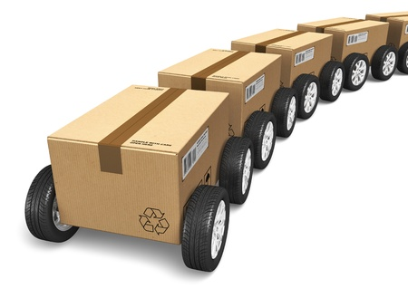 send parcel: Shipping, logistics and delivery concept