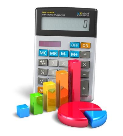 電卓: ビジネスファイナンス 写真素材