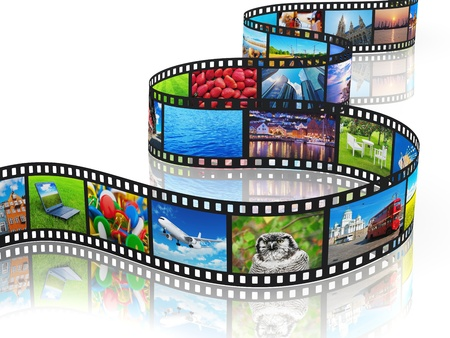 diaporama: Concept de transmission multim�dia en continu Banque d'images