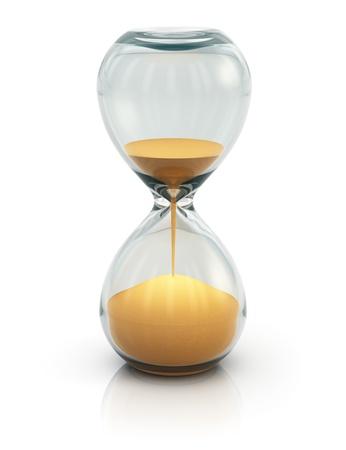sand clock: Clessidra, clessidra o il timer isolato su sfondo bianco Archivio Fotografico