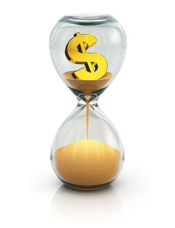 Business financial concept - Time is money photo