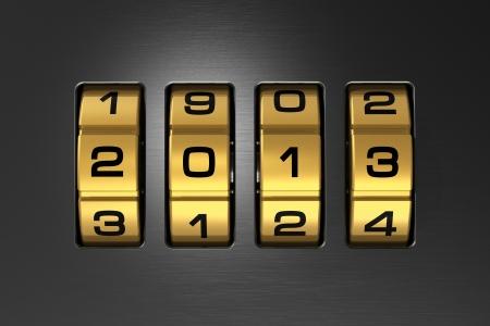 Creative New Year 2013 concept Stock Photo