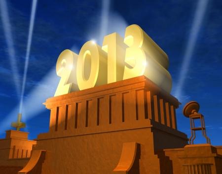 award background: Creative New Year 2013 concept Stock Photo