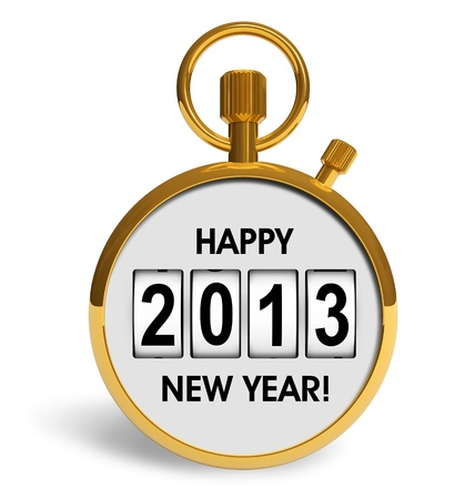 Creative New Year 2013 concept isolated on white background Stock Photo - 16259640
