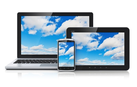 media gadget: Cloud computing technology service concept Stock Photo