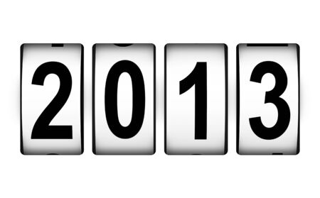 Creative New Year 2013 concept isolated on white background Stock Photo - 16373861