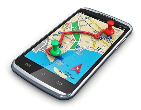 Viajes, turismo y coche auto concepto de planificación de rutas