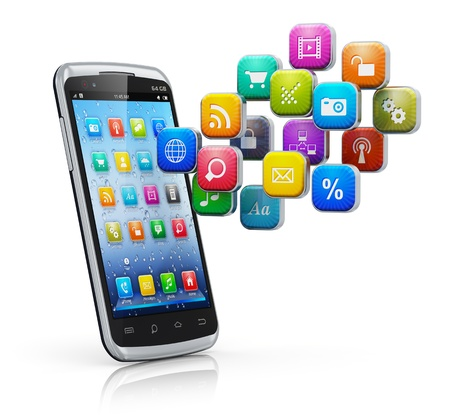 sms icon: Mobile applications