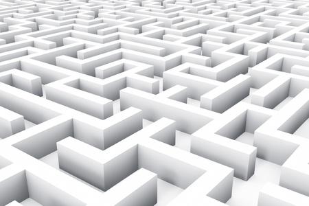 laberinto: Concepto de �xito, marketing, estrategia y motivaci�n blanco laberinto sin fin