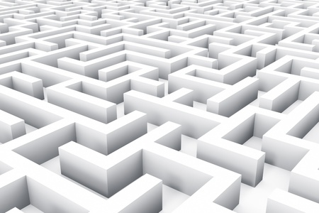 Success, marketing, strategy and motivation concept  endless white labyrinth