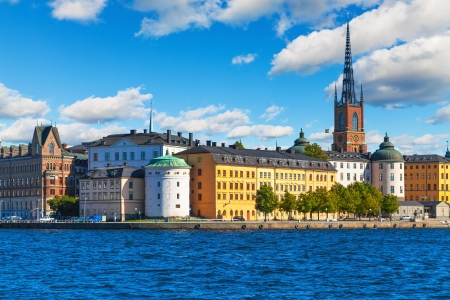 Beautiful summer scenery of the Old Town (Gamla Stan) in Stockholm, Sweden photo