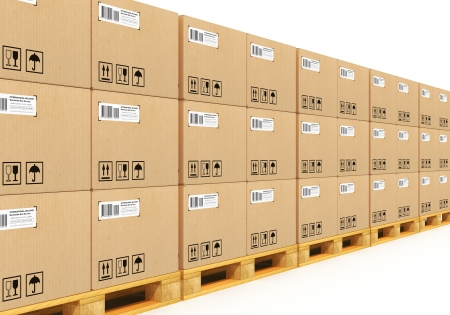 Shipment, logistics, delivery and product distribution business industrial concept Stock Photo - 18461844