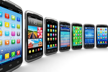 smartphone business: Mobility and wireless telecommunication concept