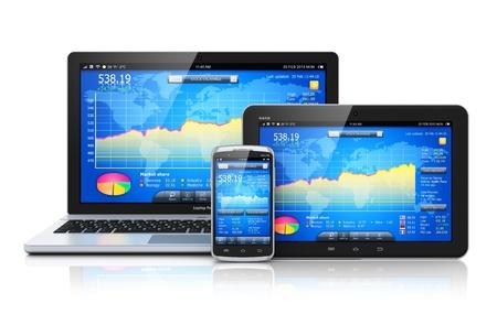 Concept de comptabilité d'entreprise négoce boursier du marché, de la banque et financières Banque d'images - 21702985