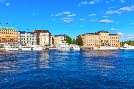 Scenic summer view of the Old Town  Gamla Stan  in Stockholm, Sweden photo