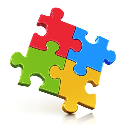 four: Creative business, office, teamwork, partnership and communication corporate concept  Stock Photo