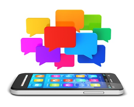 social networks: communication technology concept  Stock Photo