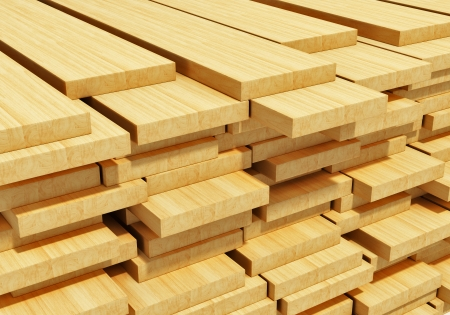 wood blocks: Timberwork, lumber work and woodwork industry concept  macro view of stacks of wooden timber planks