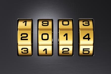 scaler: Creative New Year 2014 concept Stock Photo
