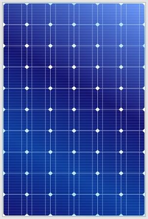 textuur: Gedetailleerde vector illustratie van blauwe silicium fotovoltaïsche elektrisch zonnepaneel textuur Stock Illustratie