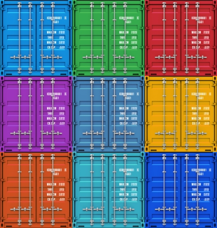 Creative abstract freight transportation, shipment and logistics business industry concept   photo