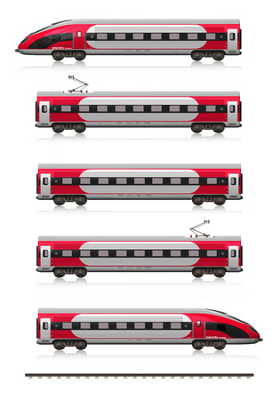 high speed train: Creative abstract railroad travel and railway tourism transportation industrial concept