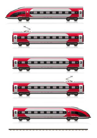 v�locit�: Creative voyage de chemin de fer abstrait et tourisme transport ferroviaire concept industriel