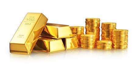 lingotes de oro: El �xito del negocio abstracto creativo,