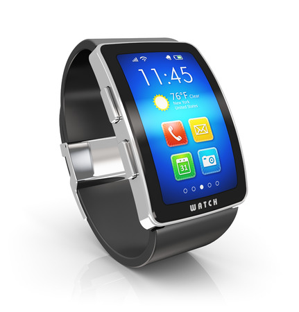 Creative business mobility and modern mobile wearable device Stock Photo