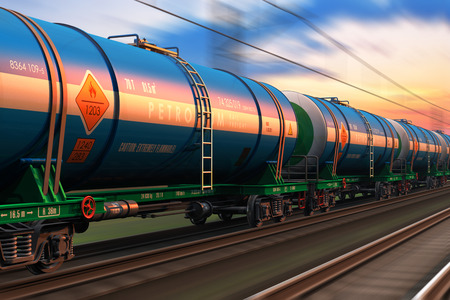 Cargo railway shipping industry and freight railroad transportation