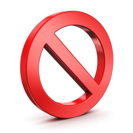 Red vide interdit, route panneau de limitation de la circulation restreinte ou interdite isolé sur fond blanc Banque d'images - 31137779