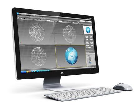 크리 에이 티브 추상 현대 3D 설계 기술 사업 개념