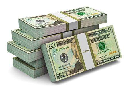 us currency: Creative abstract banking, money making and business success financial concept